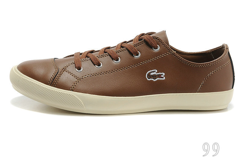 High-Quality Low-Top Lacoste Men's Shoes,Fashion Sneakers Men's Shoes,Lacoste Breathable Casual Shoes,Leather Upper Men's Shoes
