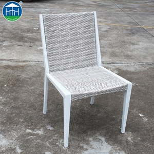 Wholesale Cheap PE Rattan Banquet Chair Without Arm,Plastic Rattan Dinning Chair