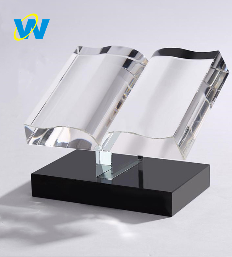 Creative crystal book trophy