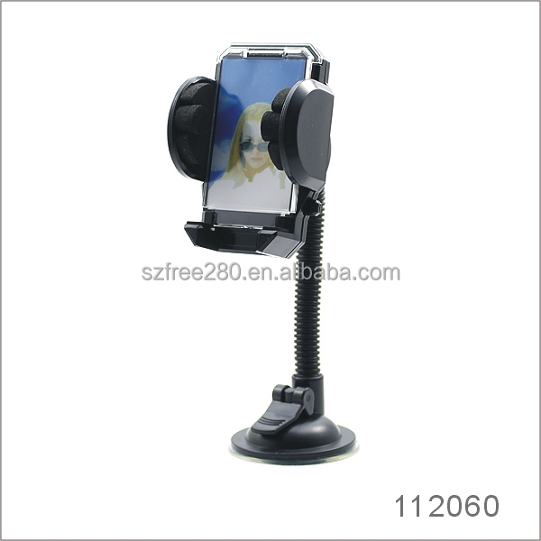 Car Holder 360 Degree Suction Cup Mount Cradle Windshield Flexible Goose Neck Holders Stand for smartphone MP3 GPS PDA