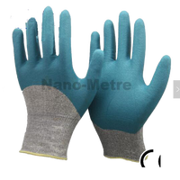 NMSAFETY 13 gauge wholesale nylon liner 3/4 coated foam nitrile work glove industrial glove