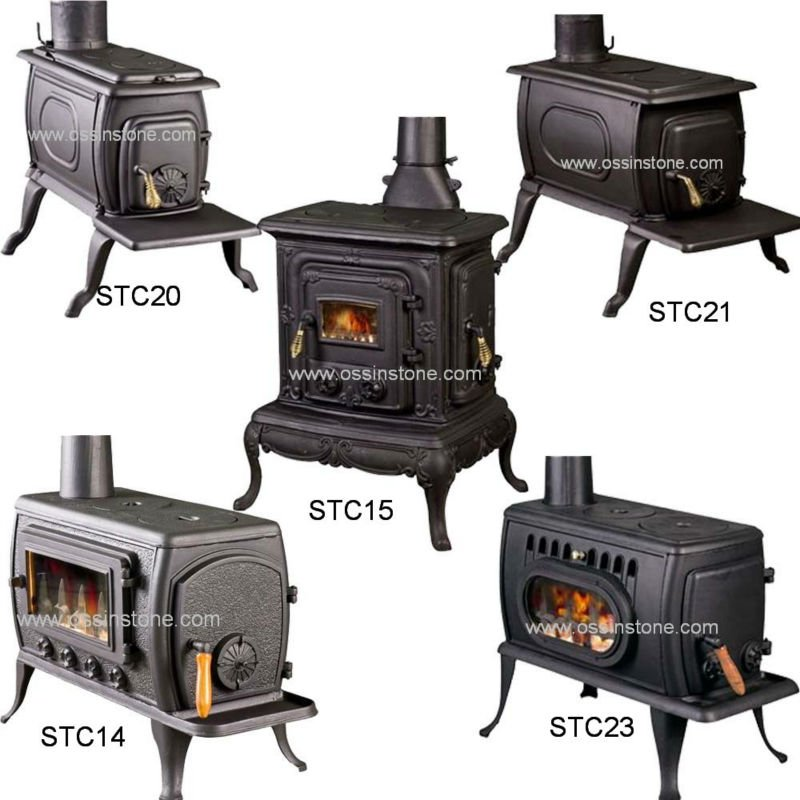 Cast Iron Wood Stove Type Burning Fireplaces Pot Belly Cooking