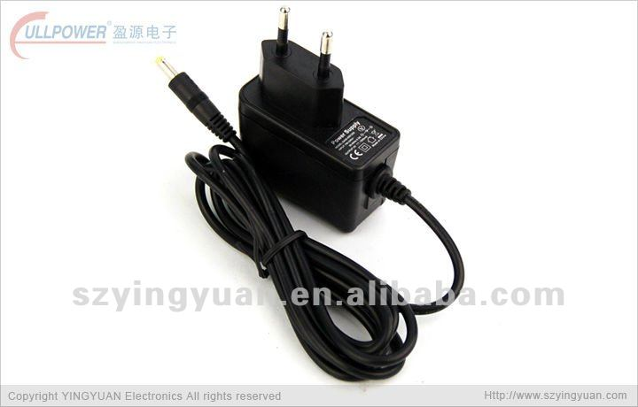safety 9W EU style AC/DC power adaptor with CE compliant