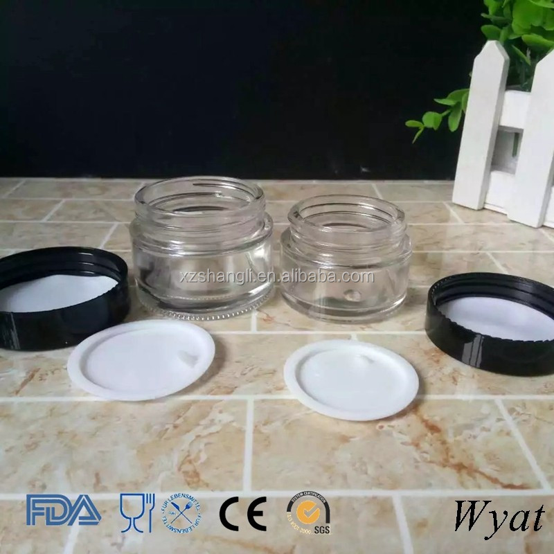 Cheap Empty 30ml 50ml Glass Cosmetic Cream Jars for Skincare