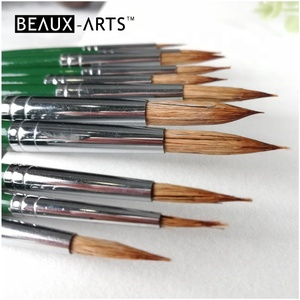 Round Ox Ear Hair Watercolor Paint Brushes
