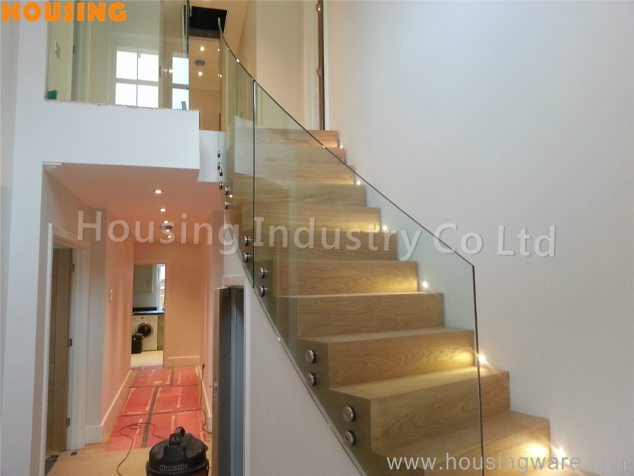 Curved Glass Stair Railing With Firm Stainless Steel Material Design For  Your Modern Villa   Buy Curved Railing,Stainless Steel Railing,Stair Railing  ...