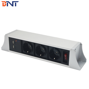 BNT three EU standard power plug desk hanging power socket available replace module as required TUS103
