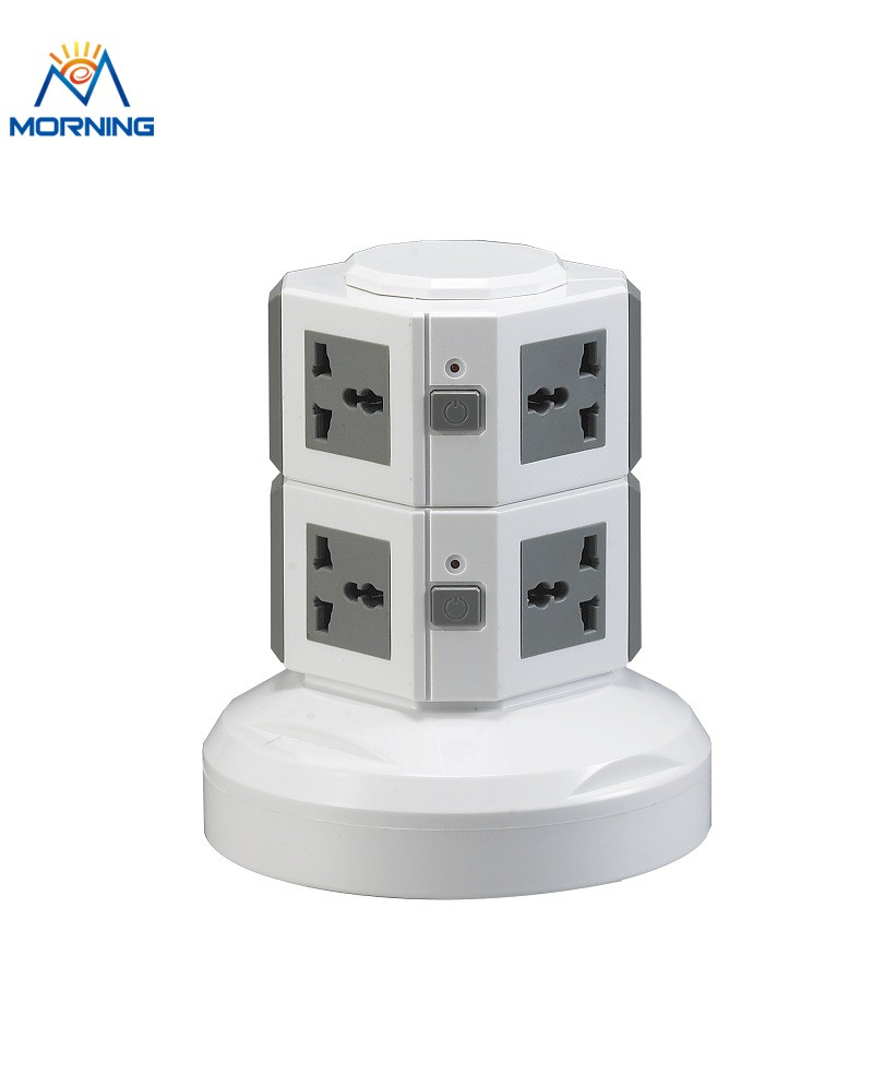 ME-S2 Many Color Two Layer Small Desktop Multi Vertical Tower Outlet Socket with EG/EU/CN <strong>plug</strong> and 3meters Power Line