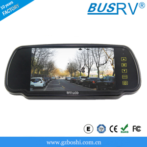7 inch lcd car rearview mirrior monitor with sd card/usb/mp5//bluetooth