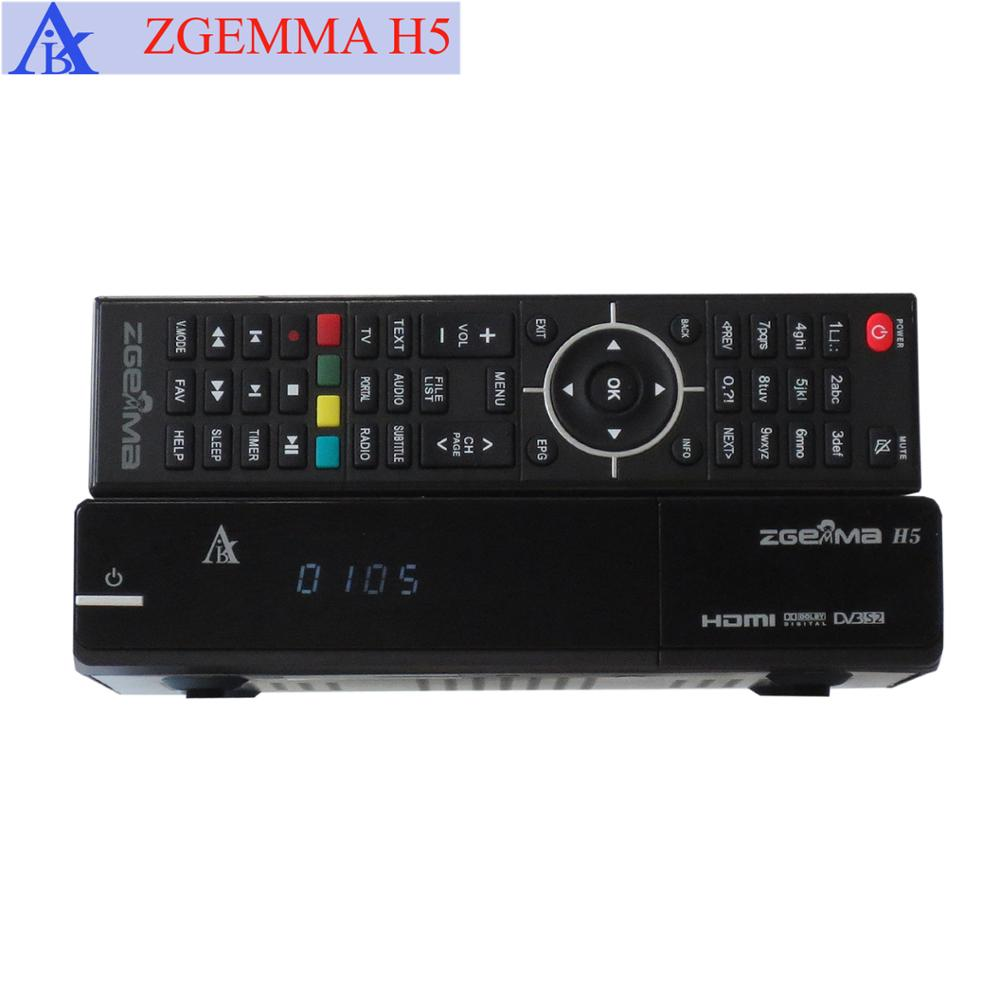 H.265 HEVC E2 Satellite Receiver ZGEMMA H5 with DVB-S2 + DVB-C/T2 CABLE / TERRESTRIAL Digital TV Receiver