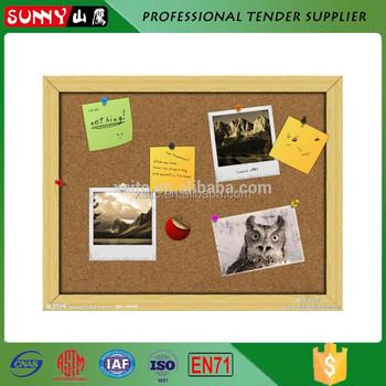 Home Decoration Wooden Frame Custom Pin Up Cork Board - Buy Custom ...