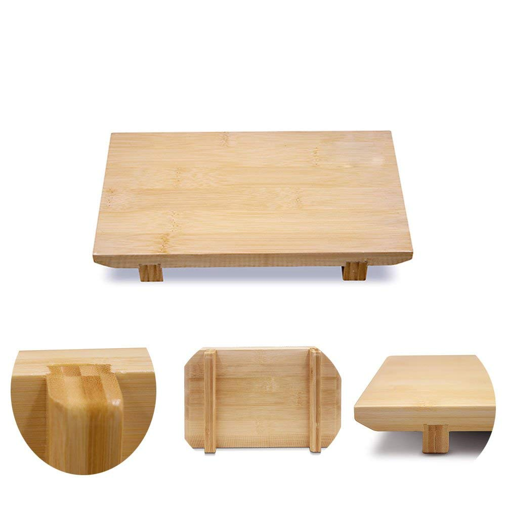 XMYZ Sushi Table Japanese and Korean cuisine DIY tools Cool Dish Tray,Bamboo Sushi Board Plate Tableware for Food Restaurant