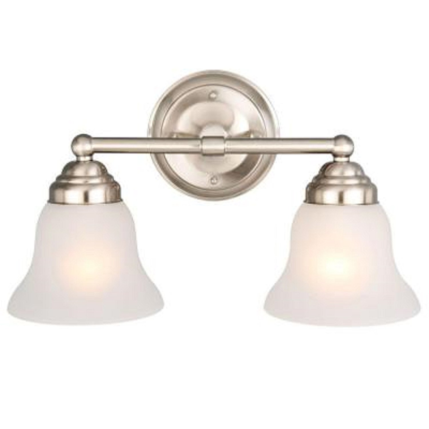 Get Quotations Hampton Bay 612 708 2 Light Brushed Nickel Vanity