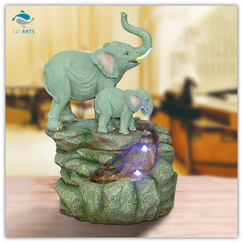 Decorative items for living room two elephants water fountain Home ...