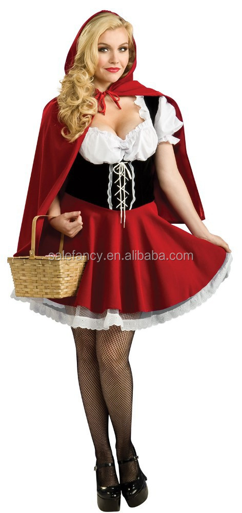 Sexy little red riding hood kostuum volwassen sprookje prinses jurk cosplay balspel dienst jurk qawc- 2533