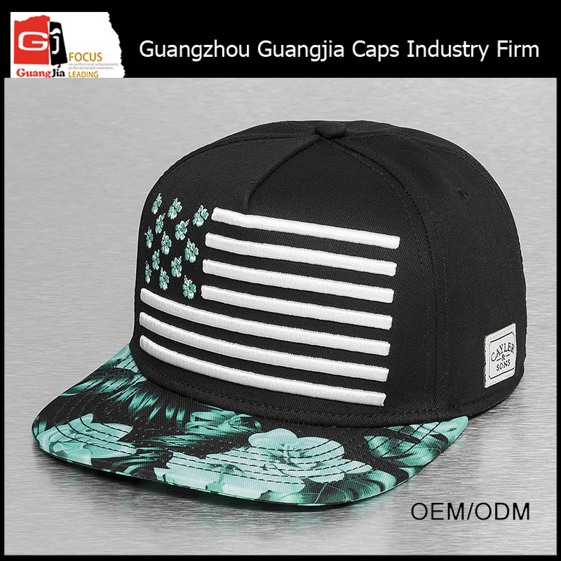 Guangjia Cap Factory Wholesale Custom Printed And 3D Embroidered Logo Hat Glow In The Dark