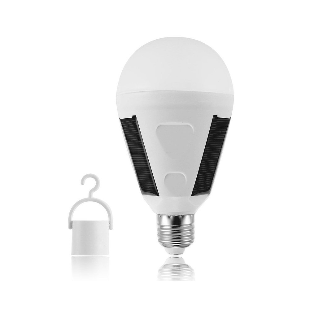 LED Solar Light Emergency Light Bulb,7W Three Solar Panels Lamp,Environmental Protection Rechargeable Light Bulb,Prevention Of Power Failure ,420LM,E27,Size Fit Most (12w constant current)