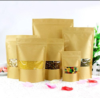 resealable kraft paper laminated aluminum foil plastic bags/tea/coffee/food package for packaging with china supplier