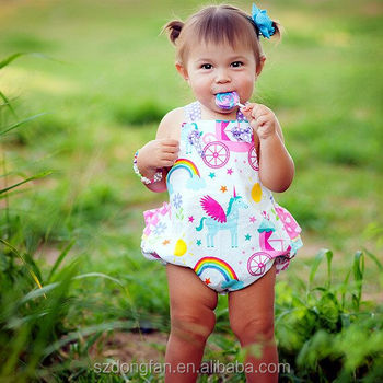 d02d55d568f5 Baby Girls Unicorn Romper Kids Birthday Bubble - Buy Baby Girls ...