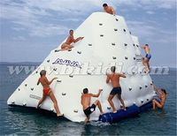 Newest inflatable water floating iceberg island for water park,inflatable water games D3067
