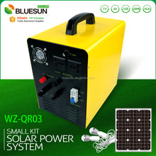 Mini 100W camping solar panels system kits for SC 220V