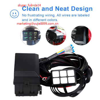 6 Gang Switch Panel Waterproof Fuse Relay_350x350 6 gang switch panel waterproof fuse relay box wiring harness Wire Harness Assembly at eliteediting.co