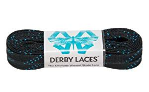 Black 96 Inch Waxed Skate Lace - Derby Laces for Roller Derby, Hockey and Ice Skates, and Boots Model: , Toys & Games for Kids & Child
