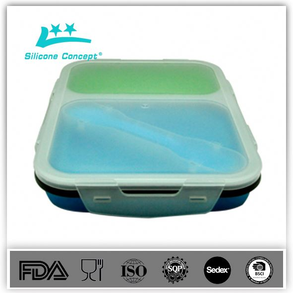 Silicone flexible lunch box sets