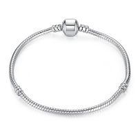 DIY Jewelry Charm Shining Bracelet Chain Silver Plated Beads 16-24cm
