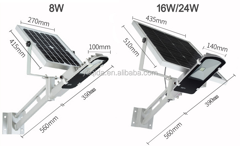 All in one Solar Street Light Auto-sensor time-control 16W