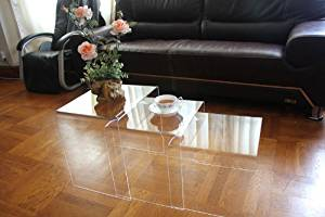 DisplayGifts AC-TB1 Clear Acrylic Nesting Table Coffee End Table 3pc Lucite Side Table Set