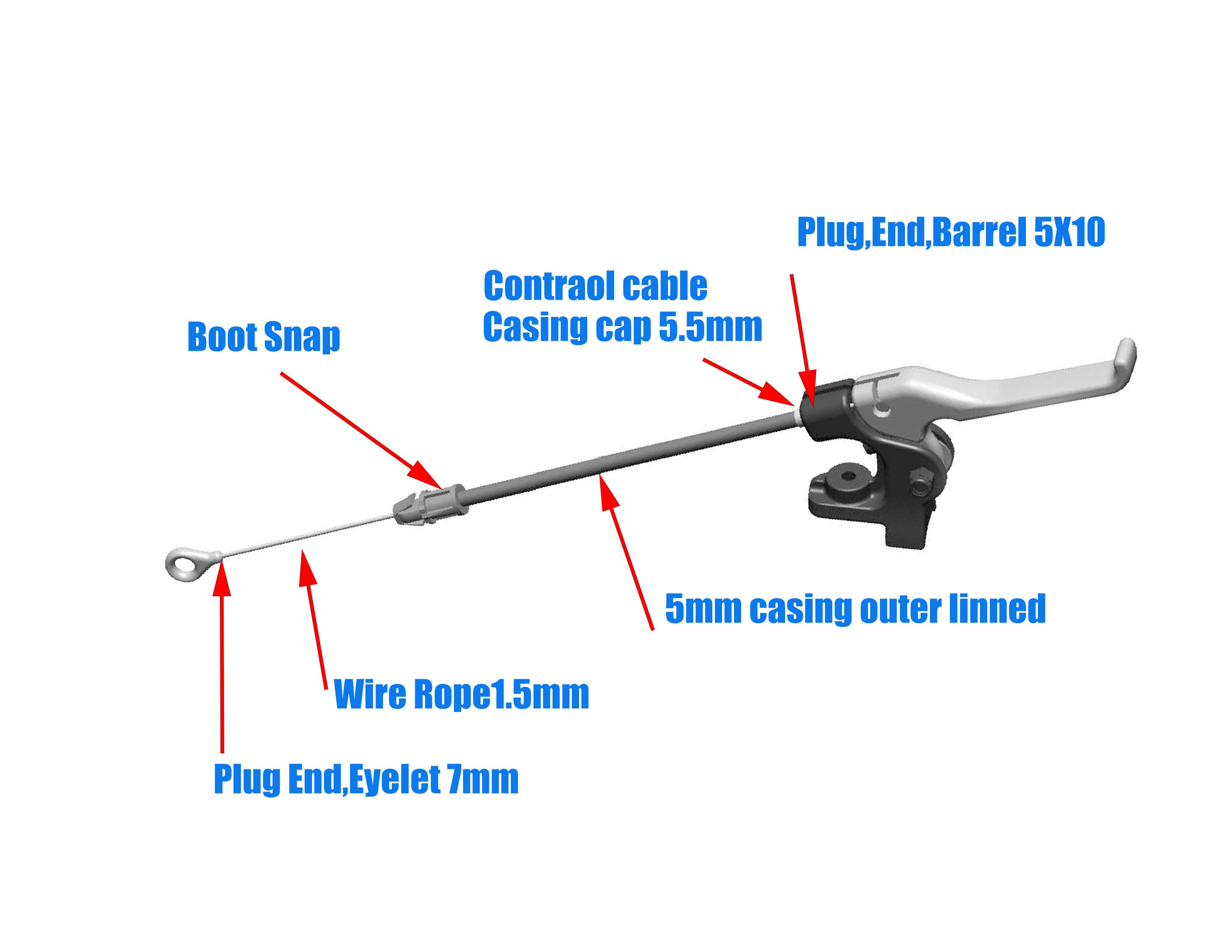 Peças de cortador de grama profissional cabo de bloqueio de rampa
