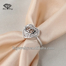 China online shopping personalized fantastic handcrafted heart imprint ring