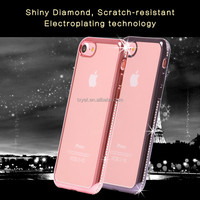 mobile phone accessoried case cover for iPhone 6 DIY tpu diamond case