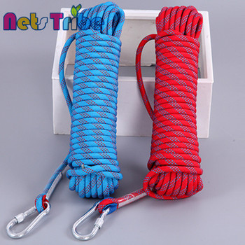 6-14mm outdoor climbing multifilament braid ropes with hooks for sale