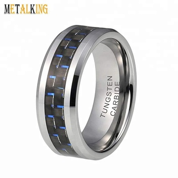 Mens Wedding Bands Tungsten.8mm Womens Mens Wedding Bands Tungsten Carbide Ring Black Blue Carbon Fiber Inlay Comfort Fit View Two Tone Carbon Fiber Wedding Band Metalking