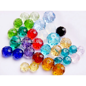 Chinese Crystal Beads Wholesale Flat Crystal Stone Glass Crystal TYRE Beads lucky flat rondelle