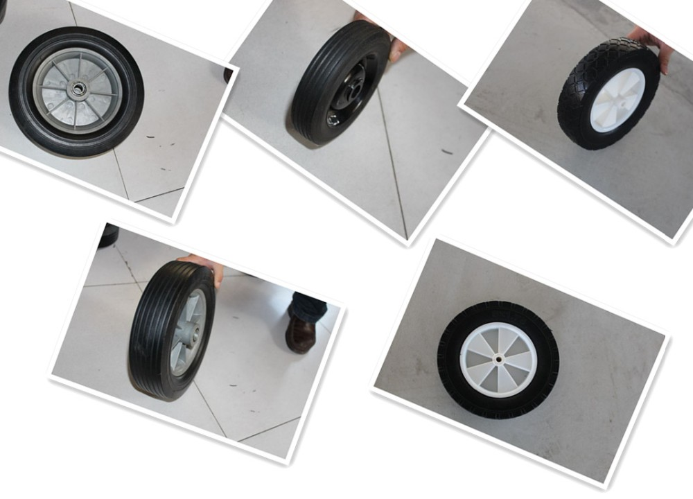 6''*2'' solid wheel rubber wheel used for handtrolley