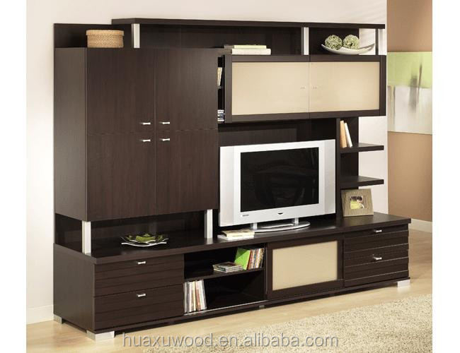hxltv-005 modern wood tv stand with showcase living room cabinets