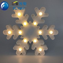 Wholesale 3D plastic customized LED marquee sign light battery operated snowflake shaped christmas light