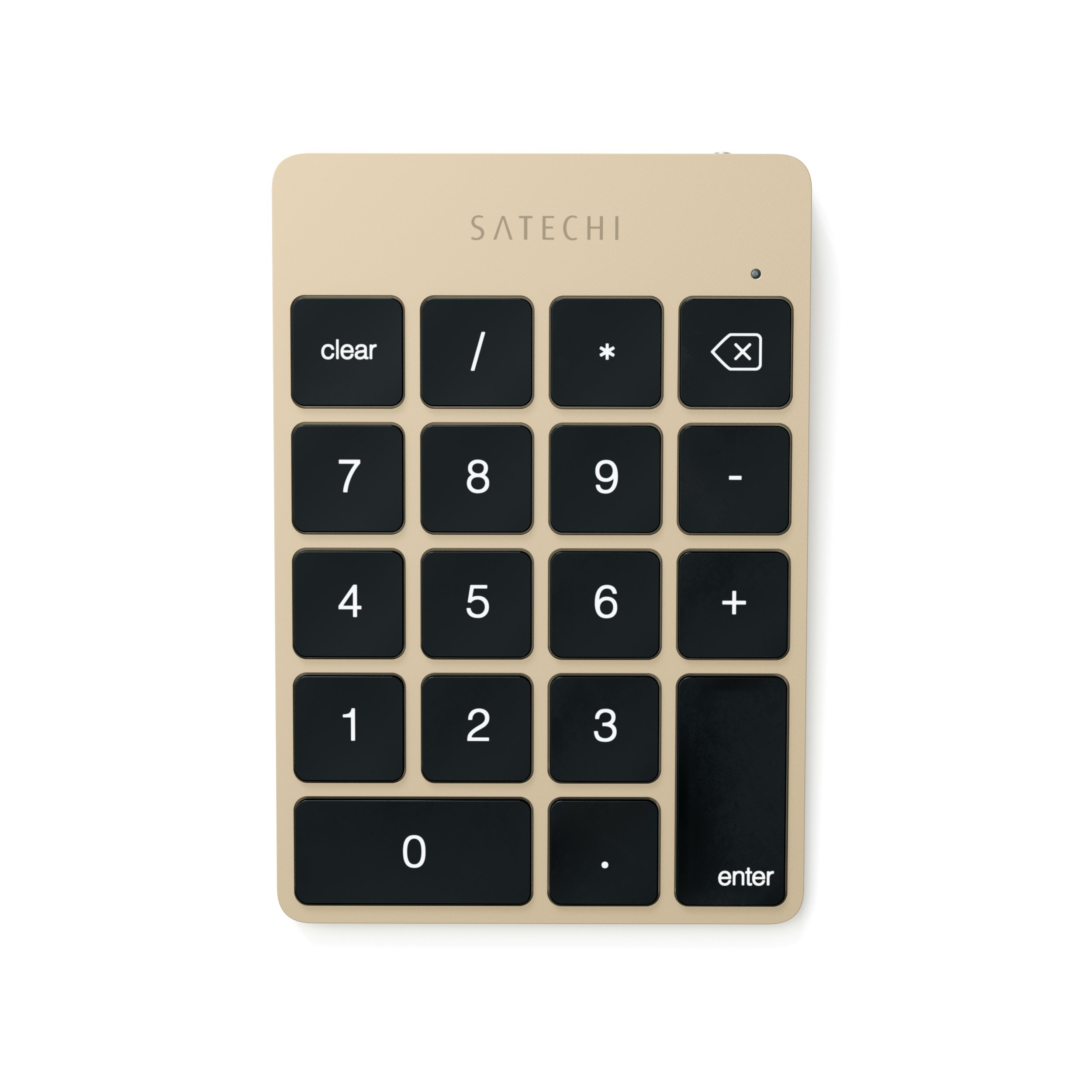 Satechi Slim Aluminum Bluetooth Wireless 18-Key Keypad Keyboard Extension for Excel Numbers Data Entry for 2017 iMac, iMac Pro, MacBook Pro, MacBook, iPad, iPhone, Dell, Lenovo and more (Gold)
