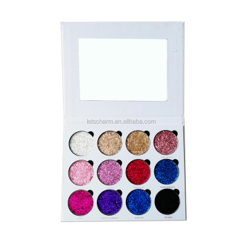 Charming high pigment cardboard glitter eyeshadow palette private label