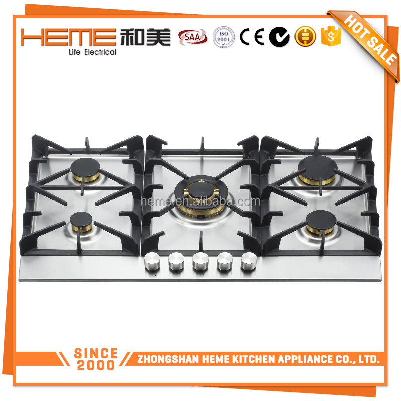 Catering Equipments 5 burners cast iron pan support best cooking range (PG9051S-HC2I(g))