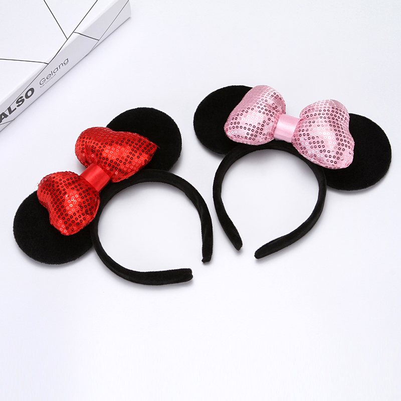 Mickey Mouse Ears <strong>Headband</strong> And Bow
