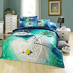 Island Green Bedding Sets Duvet Cover Sets Teen Bedding Dorm Bedding 3D Bedding Landscape Bedding Gift Ideas