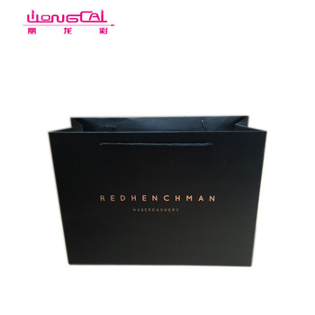 Custom luxury recycled white card paper shopping bag for packaging gift with rope handle