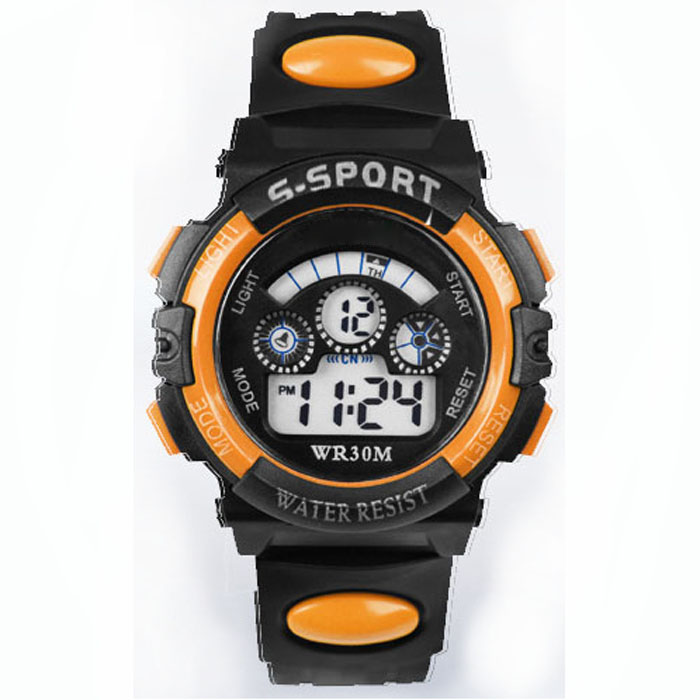 boys Waterproof Outdoor Analog Watch With Alarm Discreet Kids Sports Digital Watch Mult