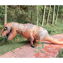 HI CE inflatable dinosaur costume for adult in outdoor activity
