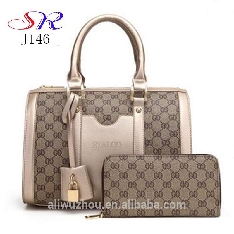 4ba9e0bf18 Trendy handbags purses tote clear women bag set handbags women wholesale  2PCS ladies shoulder bag J146