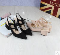 The new shoes in the summer with all-match casual shoes color high heel cross straps,summer low heel shoes,Women shoes